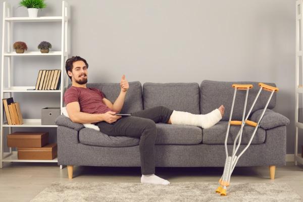 Unfallversicherung Beinbruch