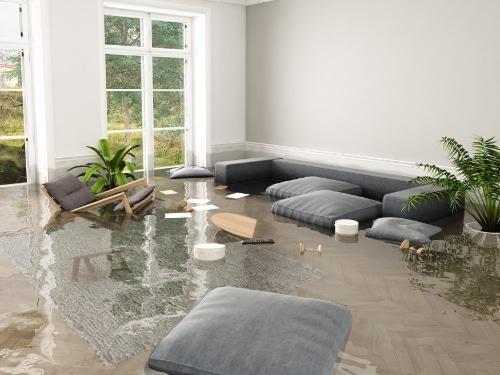 Wohngebäude Überschwemmung Wohnzimmer